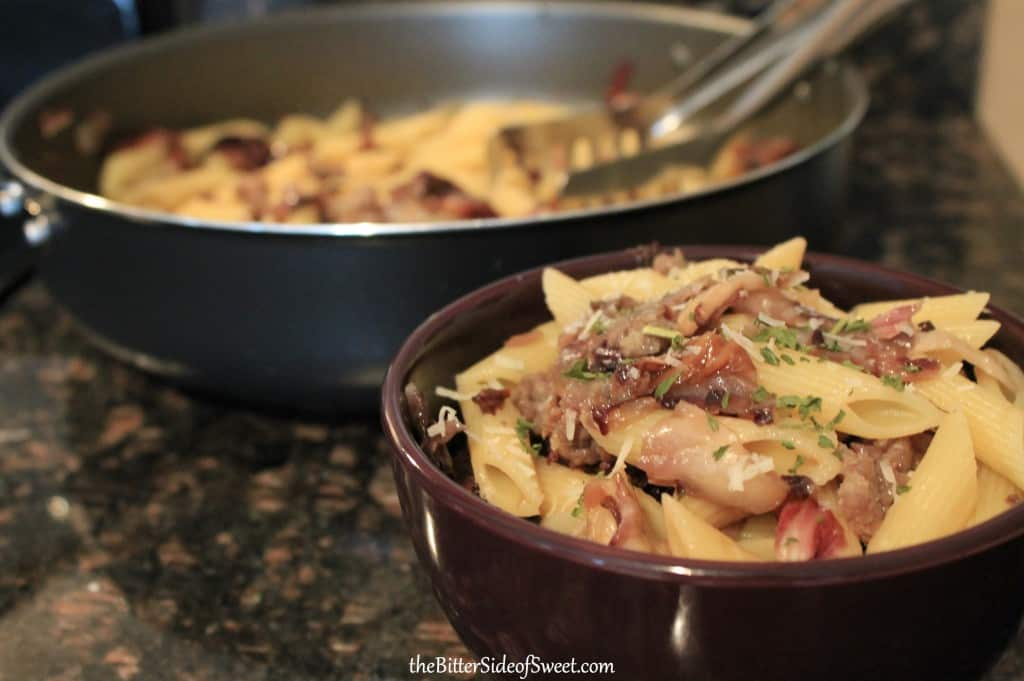Sausage and Radicchio Penne