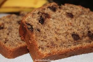 Banana Chocolate Nut Bread   thebittersideofsweet.com