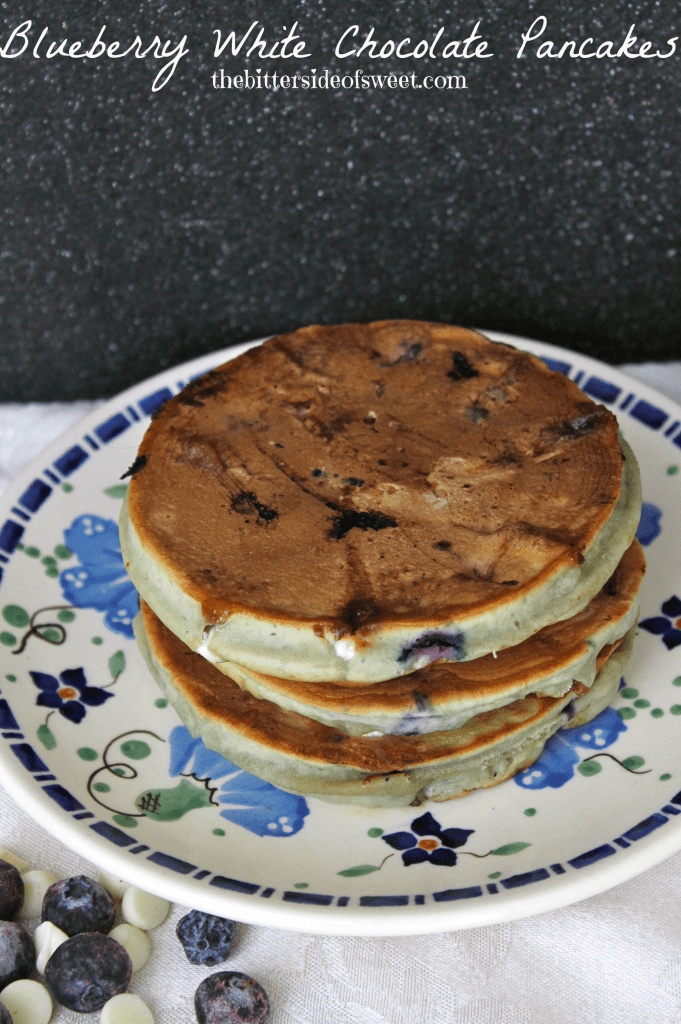 Blueberry White Chocolate Pancakes