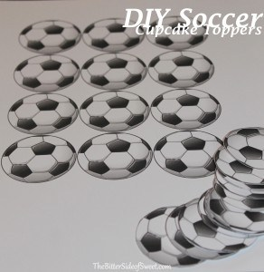 DIY Soccer Cupcake Toppers