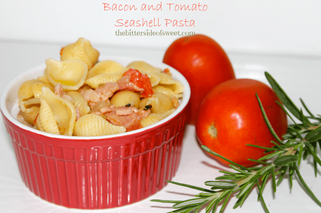 Bacon and Tomato Seashell Pasta