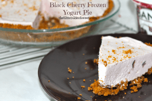 Black Cherry Frozen Yogurt Pie 2