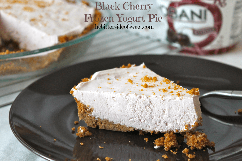 Black Cherry Frozen Yogurt Pie via thebittersideofsweet.com