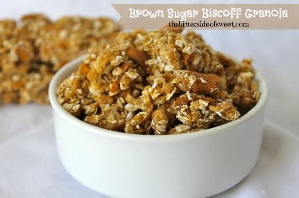 Brown Sugar Biscoff Granola by thebittersideofsweet.com