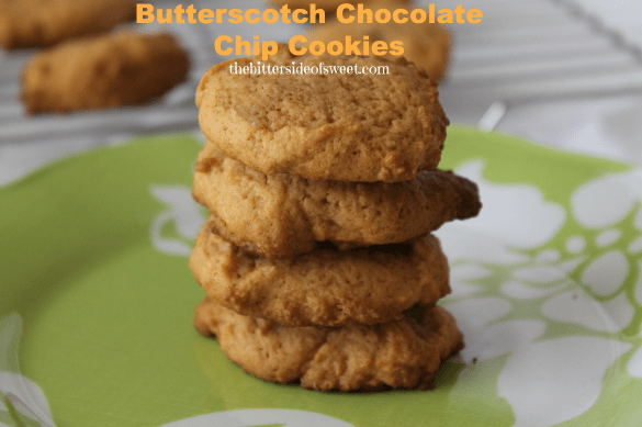Butterscotch Chocolate Chip Cookies via thebittersideofsweet