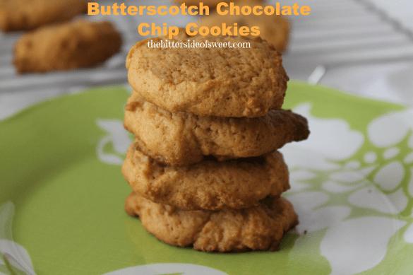Butterscotch Chocolate Chip Cookies via thebittersideofsweet