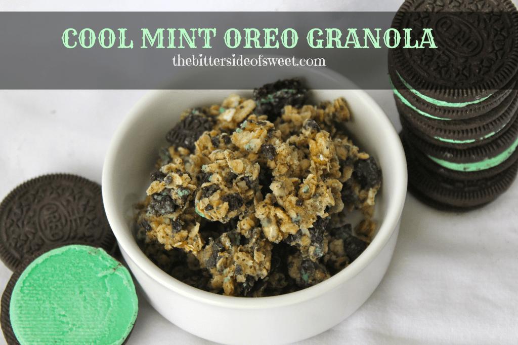 Cool Mint Oreo Granola  via thebittersideofsweet