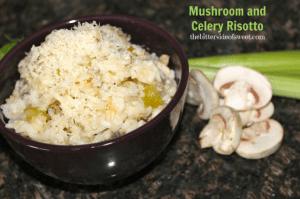 Mushroom and Celery Risotto | thebittersideofsweet.com