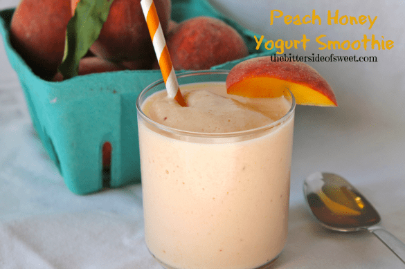 Peach Honey Yogurt Smoothie