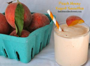 Peach Honey Yogurt Smoothie via thebittersideofsweet