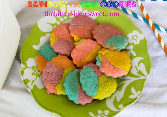 Rainbow Cream Cookies