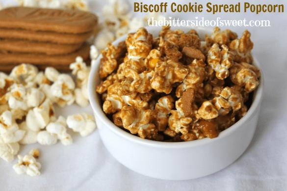 Biscoff Cookie Spread Popcorn by thebittersideofsweet.com