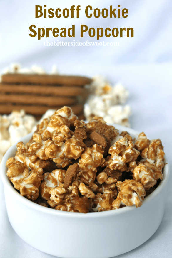 Biscoff Cookie Spread Popcorn