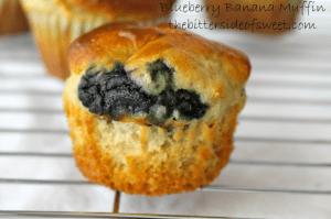 Roasted Banana Plum Muffins - theBitterSideofSweet