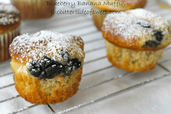 Blueberry Banana Muffin via thebittersideofsweet