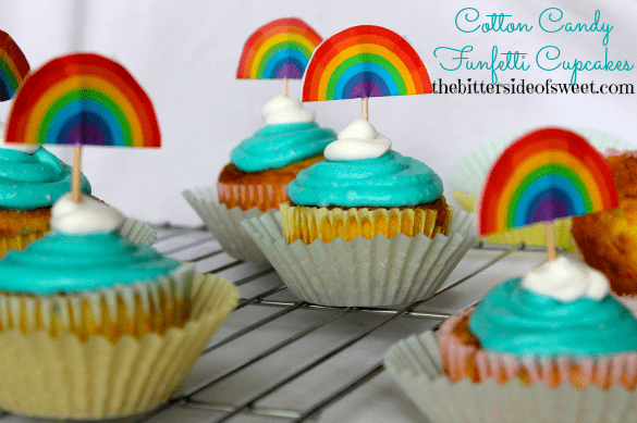 Cotton Candy Funfetti Cupcakes 2