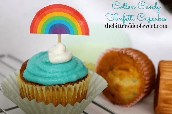 Cotton Candy Funfetti Cupcakes