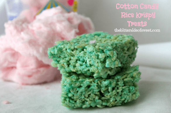 Cotton Candy Rice Krispy Treats | thebittersideofsweet.com