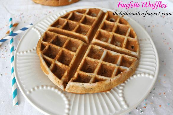 Funfetti Waffles via thebittersideofsweet