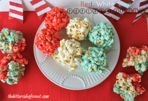 Red White Blue Popcorn Balls 3