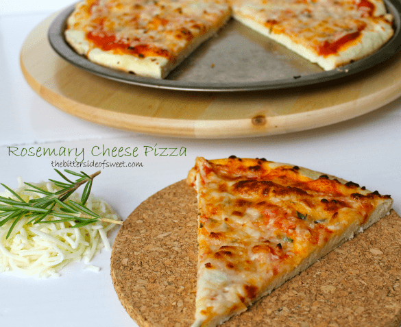 Rosemary Cheese Pizza | thebittersideofsweet.com #pizza #redstar #dinner #cheese #rosemary