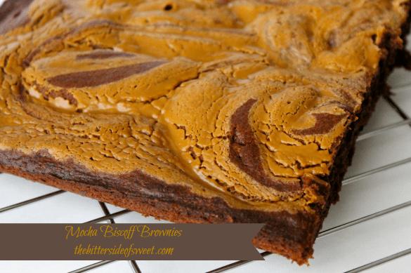 Mocha Biscoff Brownies | thebittersideofsweet.com #frostingcreations #brownies #biscoff#tastereal