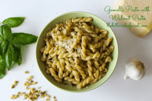 Gemelli Pasta with Walnut Pesto