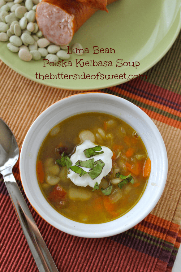 Lima Bean Polska Kielbasa Soup thebittersideofsweet.com 1
