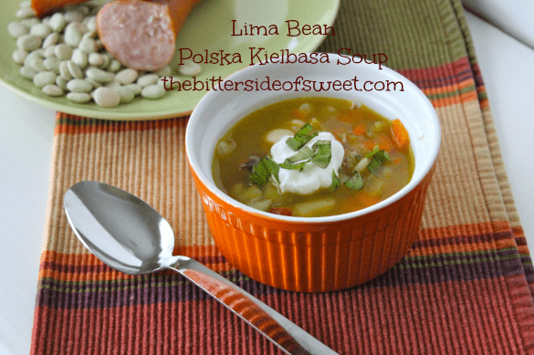 Lima Bean  Polska Kielbasa Soup thebittersideofsweet.com 3