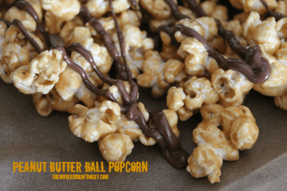 Peanut Butter Ball Popcorn thebittersideofsweet.com 4