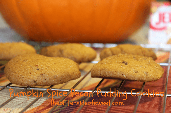 Nothing says fall like these Pumpkin Spice Pecan Pudding Cookies!! | thebittersideofsweet.com #pumpkinspice #pudding #cookies