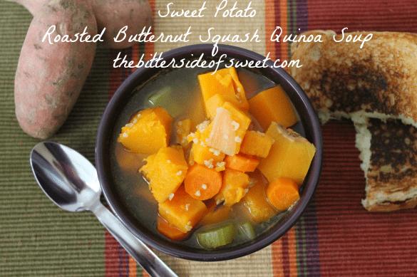 ... Butternut Squash Quinoa Soup   thebittersideofsweet.com   #soup #fall