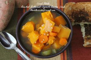 Sweet Potato Roasted Butternut Squash Quinoa Soup thebittersideofsweet.com 4