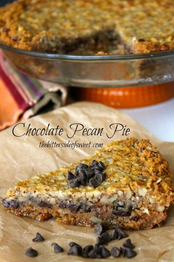 Chocolate Pecan Pie | thebittersideofsweet.com
