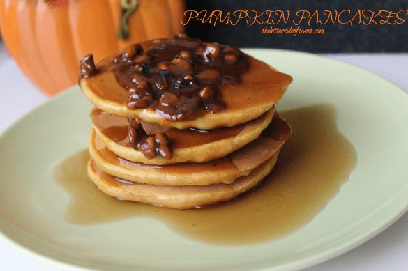 Pumpkin Pancakes |thebittersideofsweet.com |#pumpkin #fallbaking #pancakes #breakfast