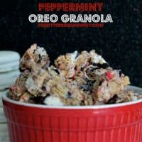 White Fudge Peppermint Oreo Granola