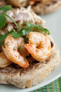 Chile-Lime Shrimp Naan Wrap