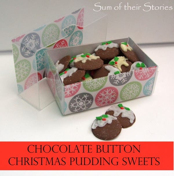 Chocolate button christmas pudding sweets
