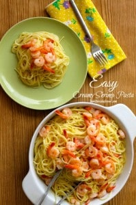 Easy Creamy Shrimp Pasta 1