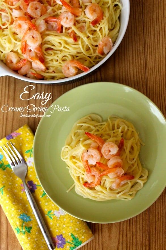 Easy Creamy Shrimp Pasta | thebittersideofsweet.com