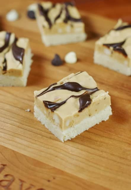 Marbled Peanut Butter and Chocolate Shortbread Bars 3