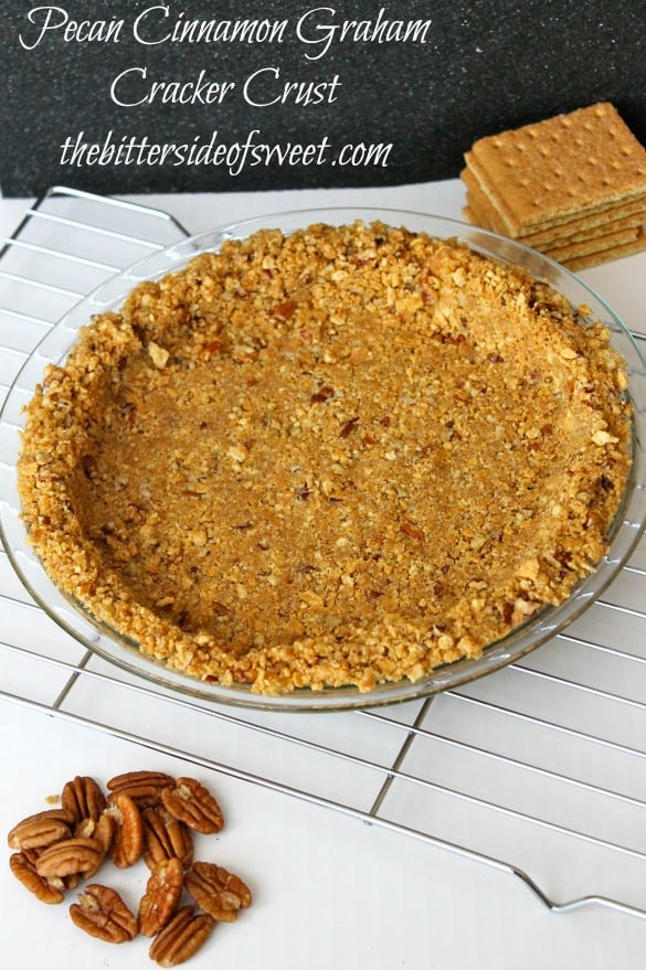 Pecan Cinnamon Graham Cracker Crust |thebittersideofsweet.com