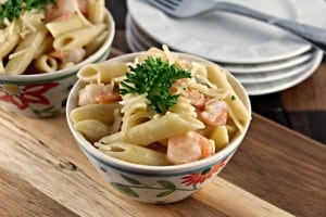 Shrimp-Penne-with-Garlic-Sauce