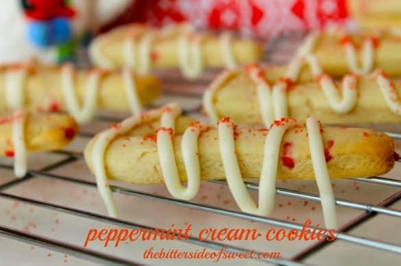 Peppermint Cream Cookies | thebittersideofsweet.com #12DaysofCookies