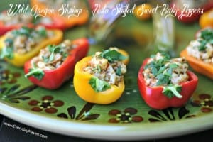 stuffed sweet baby peppers with shrimp