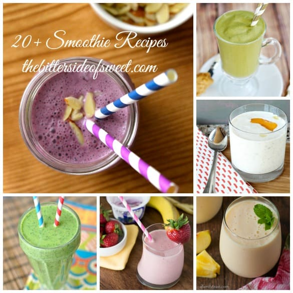 20+ Smoothie Recipes | thebittersideofsweeet.com