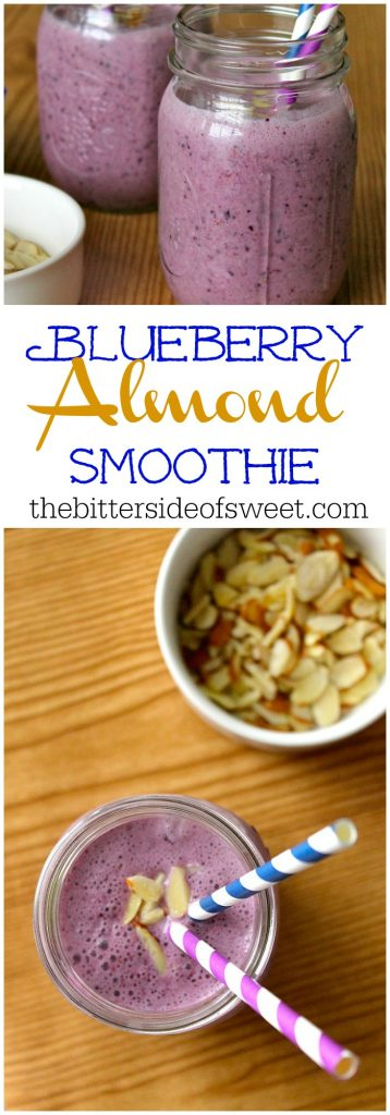 Blueberry Almond Smoothie | The Bitter Side of Sweet