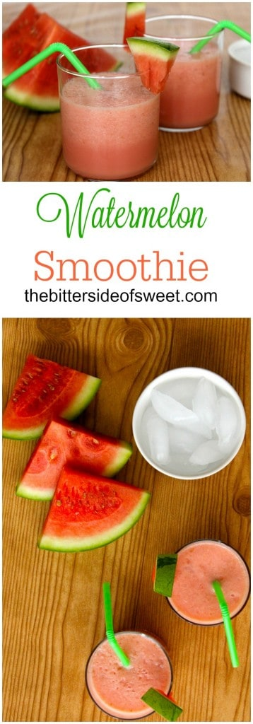 Watermelon Smoothie  | The Bitter Side of Sweet