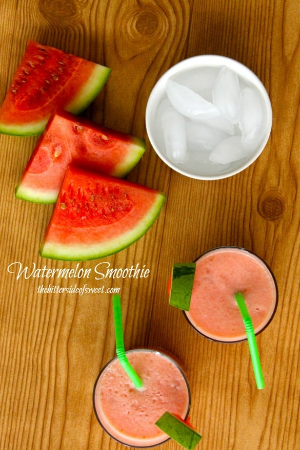 Watermelon Smoothie | thebittersideofsweet.com
