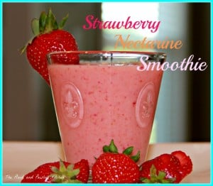 strawberry nectarine smoothie
